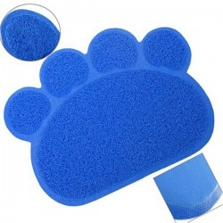 Lion Kedi Paspası Mavi 60x45 cm