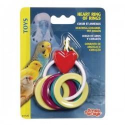 Living World Halkalı Plastik Kuş Oyuncağı