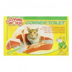 Living World Kapalı Hamster Tuvaleti Kırmızı