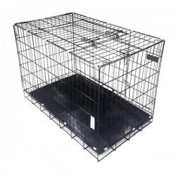 Metal Köpek Kafesi 60x42x51 Cm Siyah