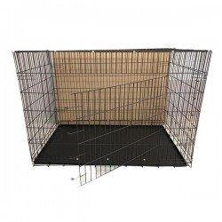 Metal Tepsili Kedi ve Köpek Kafesi 122x76x84 Cm
