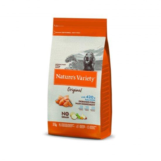 Nature's Variety Dog No Grain Medium/Maxi Yetişkin Somonlu Köpek Maması 2 Kg