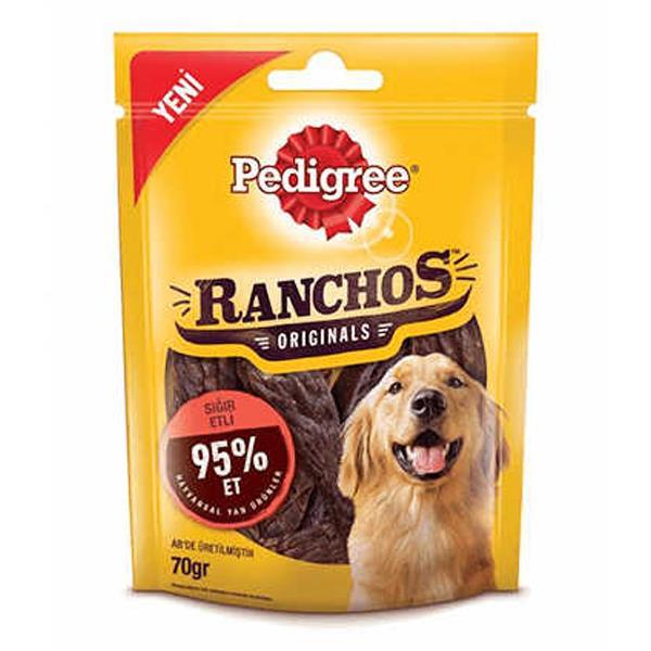 Pedigree Ranchos Kuzu Etli Köpek Ödülü 70 gr