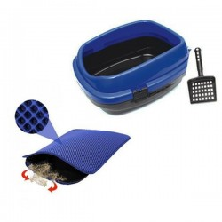 Pet Style Açık Kedi Tuvaleti ve Elekli Kedi Paspası Set
