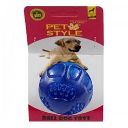 Pet Style Çıngıraklı Sert Top Mavi