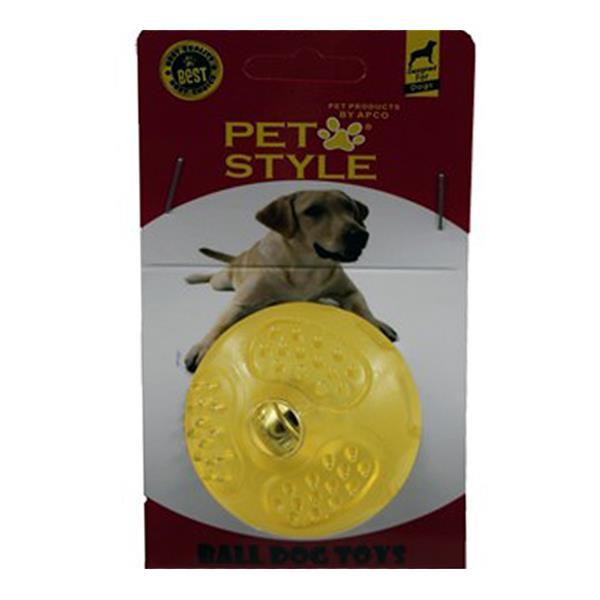 Pet Style Çıngıraklı Sert Top Şeffaf Sarı