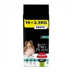 Pro Plan Medium Kuzulu Orta Irk Yetişkin Köpek Maması 14Kg+2,5Kg