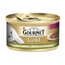 Purina Gourmet Gold Çifte Lezzet Ciğer ve Tavşan 85gr