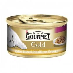 Purina Gourmet Gold Çifte Lezzet Hindi ve Ördek 85gr