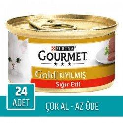 Purina Gourmet Gold Kıyılmış Sığır Eti 85gr x 24 Adet