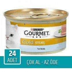 Purina Gourmet Gold Kıyılmış Ton Balıklı 85gr x 24 Adet