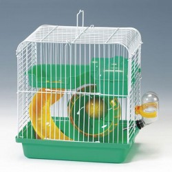 QH Hamster Kafesi Yeşil Beyaz 23x17x25