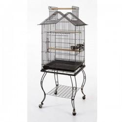 QH Papağan Kafesi Sehpalı Beyaz 51x51x139cm