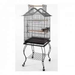 QH Papağan Kafesi Sehpalı Siyah 51x51x139cm