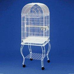 Qh Sehpalı Papağan Kafesi Beyaz 51x51x152Cm