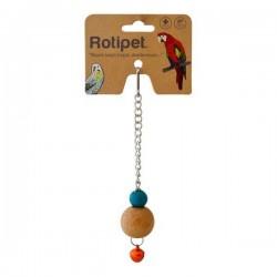 Rotipet Şekilli Tekli Ahşap Sarkaç Kuş Oyuncağı