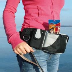 Trixie Eğitmen Bel Çantası , Siyah/Gri , 62-125 cm