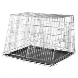 Trixie İki Köpek Taşıma Galvaniz Kafes, 93X68X79cm