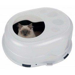 Trixie Kedi Kapalı Tuvalet Kabı, 63×42×49cm Gri