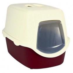 Trixie Kedi Kapalı Tuvaleti,40X40X56cm,Bordo/Krem