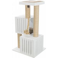 Trixie Kedi Tırmalama ve Oyun Evi, 114cm, Beyaz/ Kum Beji