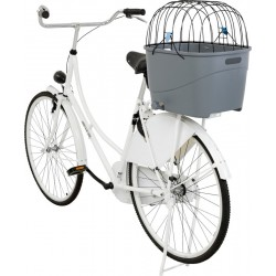 Trixie Köpek İçin Bisiklet Arkası Sepeti, Plastik ve Metal, 36X47X46cm, Gri
