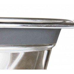 Trixie Köpek Mama Su Kabı, Tıkırtısız, Paslanmaz Çelik, 2 x 0,45 lt/ø 13 cm, Gri
