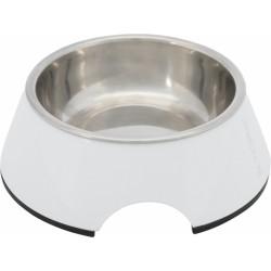 Trixie Köpek Mama ve Su Kabı, Melamin/Paslanmaz Çelik, 0.2lt/ø14cm, Beyaz