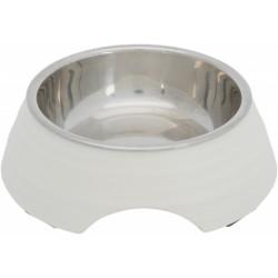 Trixie Melamin/Paslanmaz Çelik Mama ve Su Kabı, 0.2lt/ø14cm, Beyaz