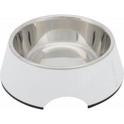 Trixie Köpek Mama ve Su Kabı, Melamin/Paslanmaz Çelik, 0.4lt/ø17cm, Beyaz