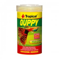 Tropical Guppy 100ml 20gr Lepistes İçin Pul Yem