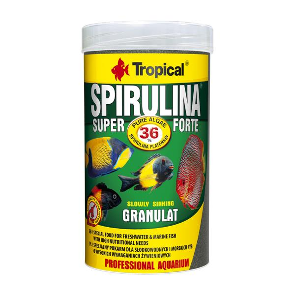 Tropical Super Spirulina Forte Granulat 100gr Kovadan Bölme Balık
