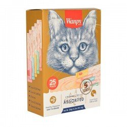Wanpy Karışık Lezzetli Sıvı Kedi Ödülü 25 x14 Gr