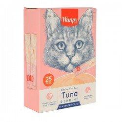 Wanpy Ton Balıklı ve Karidesli Sıvı Kedi Ödülü 25 x14 Gr