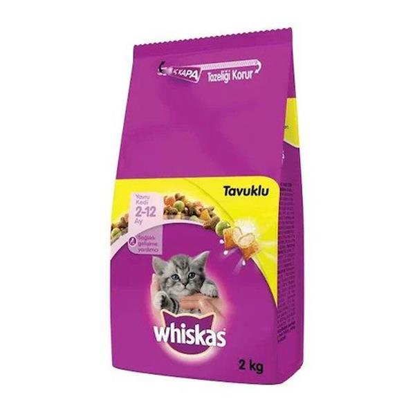 Whiskas Kitten Tavuklu Yavru Kedi Maması 2 Kg