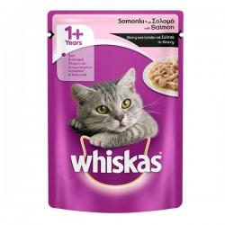 Whiskas Somon Balıklı Pouch Kedi Konservesi 100Gr