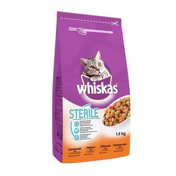 Whiskas Sterilised Tavuklu Kısırlaştırılmış Kedi Maması 1,4 Kg